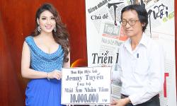 Hoa hậu điện ảnh Jenny Tuyến trao quà từ thiên cho mái Nhân Tâm