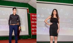 Top model Nguyễn Lợi và người đẹp Đoàn Bo Bo tự tin trên sàn diễn