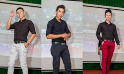 Á Vương Hoàng Văn Kiệt, Á Vương Hà Nhật Lê và Mr Nụ Cười Tỏa Sáng Dương Công Thắng lịch lãm trên sàn diễn