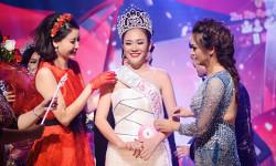 Hoa hậu Hà Kiều Anh trao vương miện cho Hoa hậu Phụ nữ người Việt thế giới Quỳnh Mai