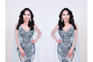 Hoa hậu Vân Nguyễn khoe vẻ đẹp rạng rỡ trong sắc màu dạ hội