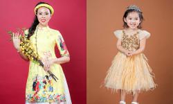 Nguyễn Thùy Trang và con gái Takami rạng ngời trong trang phục áo dài Xuân
