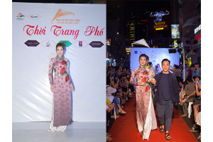 Á hậu Thuý Ngân tham gia chương trình Thời Trang Phố - NTK Việt Hùng