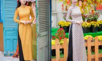 Mẹ con diễn viên Dương Cẩm Lynh xúng xính diện áo dài đón Tết