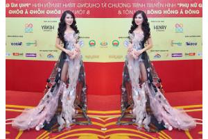 Khách mời không rời mắt trước vẻ đẹp kiều diễm của ca sĩ Kavie Trần trên thảm đỏ