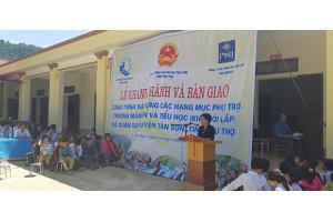 Quỹ từ thiện PNJ tài trợ 600 gần triệu đồng xây công trình phụ trợ trường học tại Phú Thọ